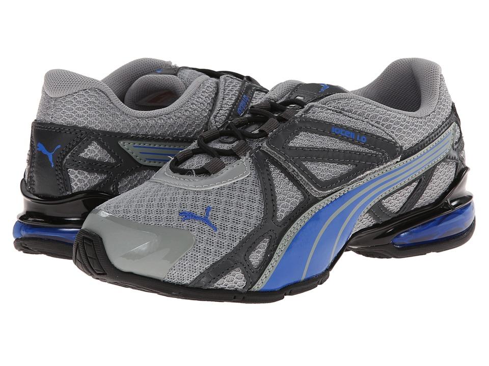 Puma Kids Voltaic 5 (Toddler/Little Kid/Big Kid) (Limestone Grey/Strong Blue/Dark Shadow) Boys Shoes