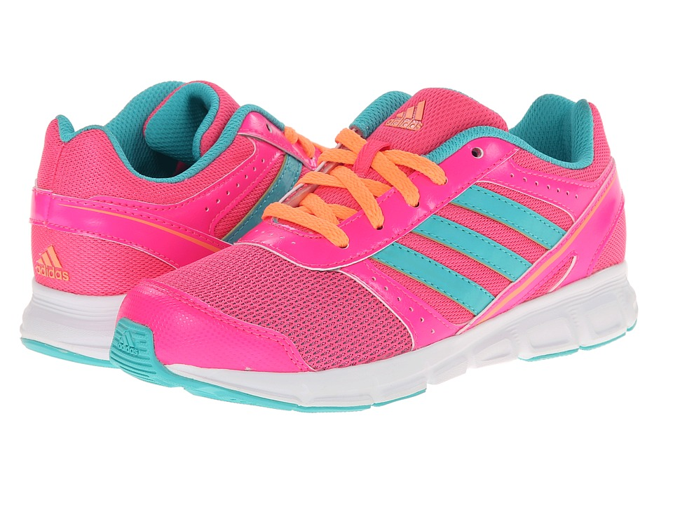 adidas Kids - Hyperfast K (Little Kid/Big Kid) (Solar Pink/Vivid Mint/Flash Orange) Girls Shoes
