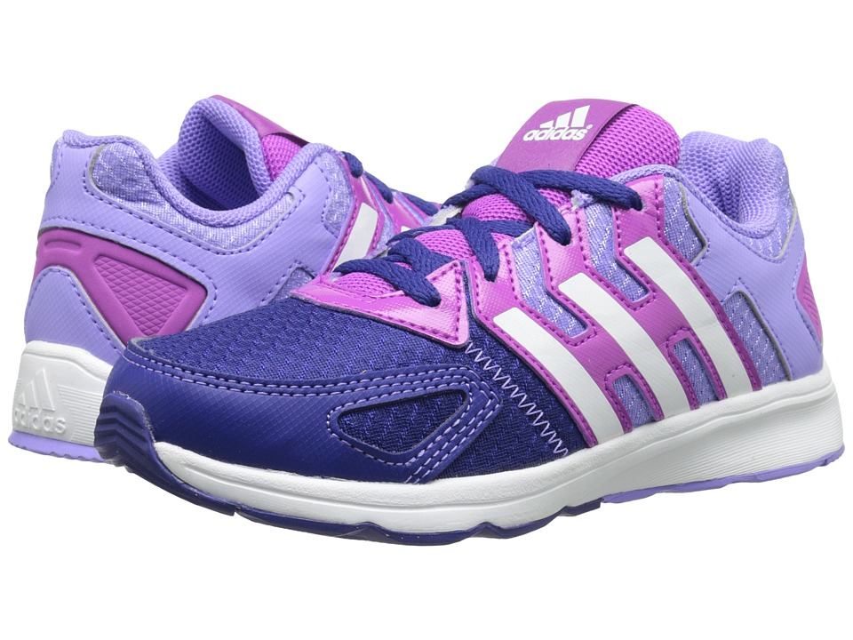 adidas Kids - Az-Faito K (Little Kid/Big Kid) (Flash Pink/White/Amazon Purple) Girls Shoes