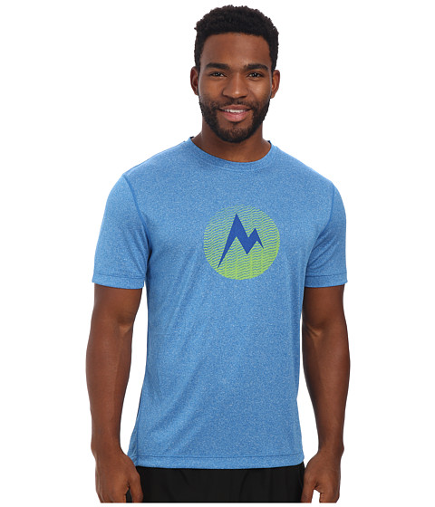 Marmot - Transporter Tee S/S (Ceylon Blue Heather) Men's T Shirt