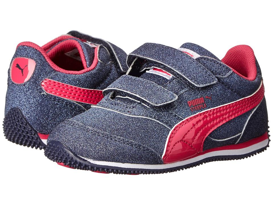 Puma Kids - Steeple Glitz AOG V (Toddler/Little Kid/Big Kid) (Peacoat/Beetroot Purple) Girl's Shoes