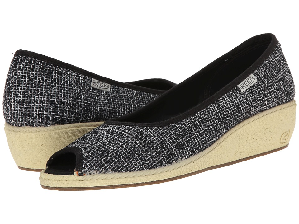 Keen Cortona Wedge Jute (Black) Women