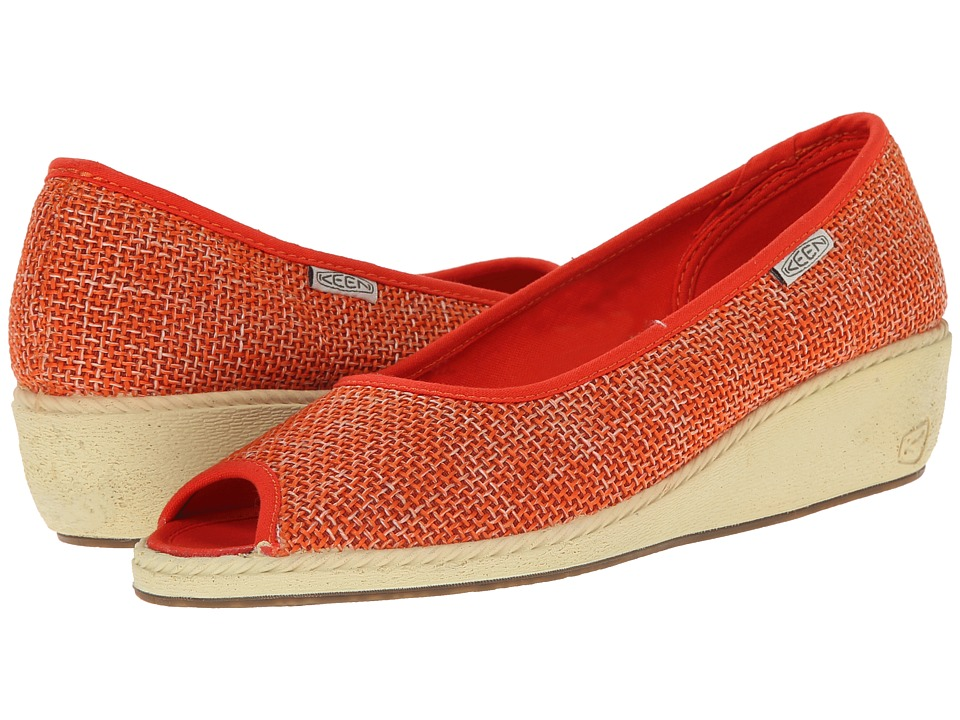 Keen Cortona Wedge Jute (Pumpkin) Women