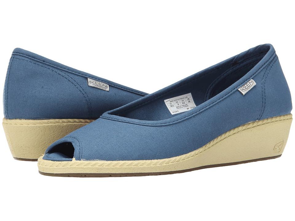 Keen - Cortona Wedge CVS (Indian Teal) Women's Wedge Shoes