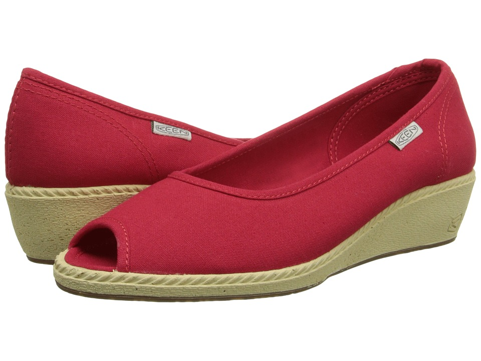 Keen - Cortona Wedge CVS (Ribbon Red) Women's Wedge Shoes