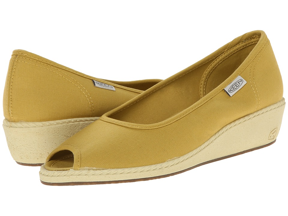 Keen - Cortona Wedge CVS (Ceylon Yellow) Women's Wedge Shoes