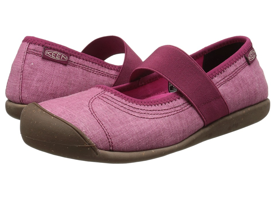 Keen - Sienna MJ Canvas (Beet Red) Women's Flat Shoes