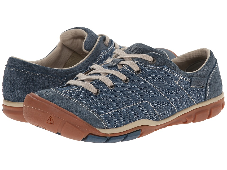 Keen - Mercer Lace II CNX (Indian Teal) Women's Lace up casual Shoes