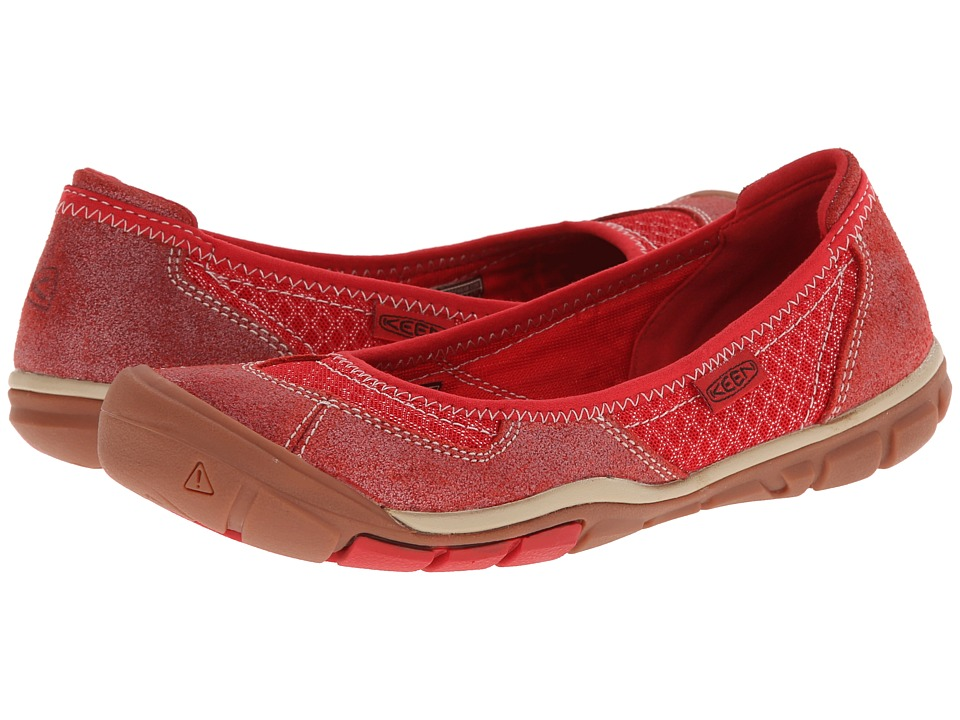 Keen - Mercer Ballerina CNX (Ribbon Red) Women's Shoes