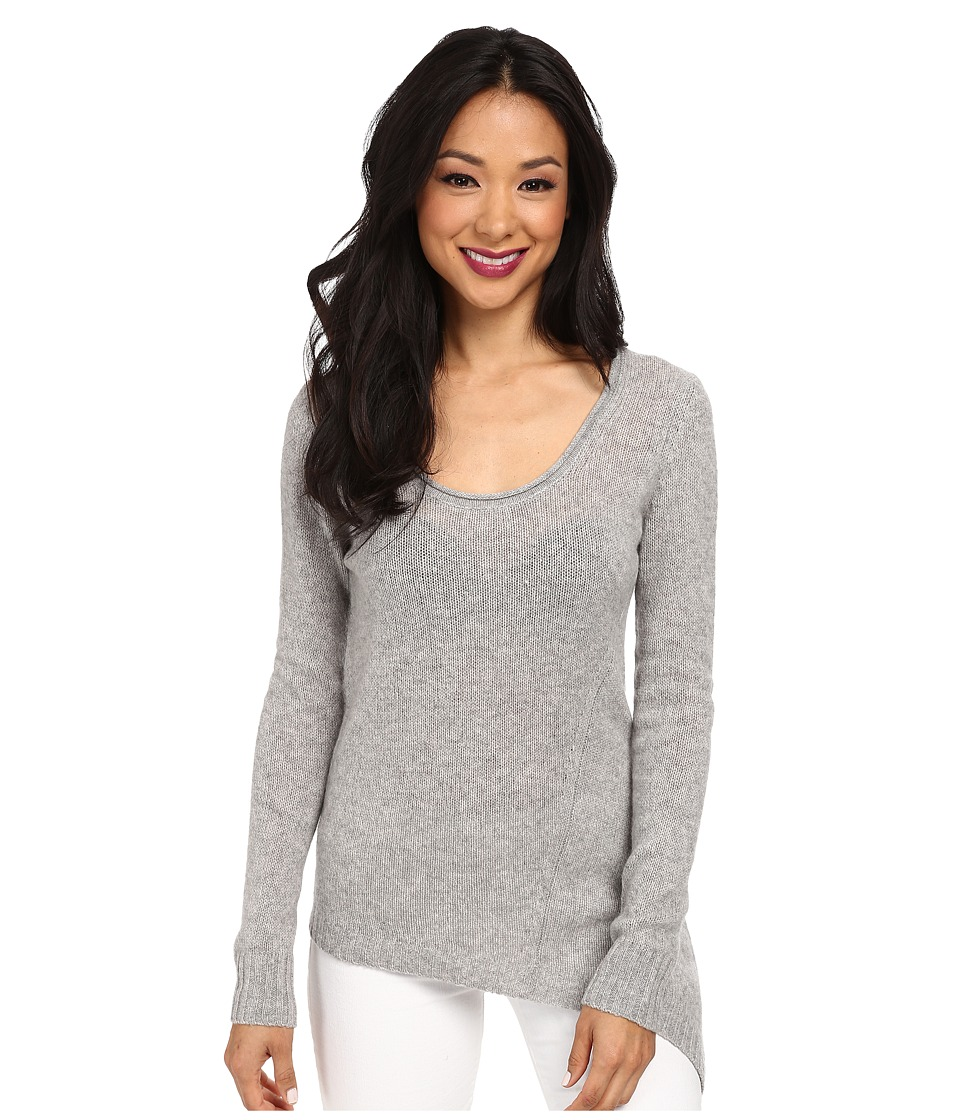 Image of Autumn Cashmere - Asymmetric Scoop Neck (Sweatshirt) Women's Sweater