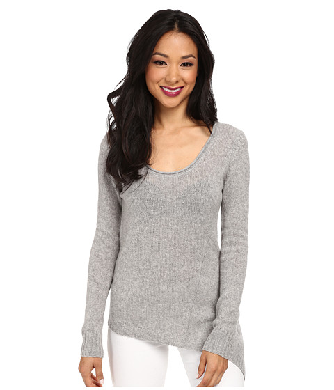 Autumn Cashmere - Asymmetric Scoop Neck (Sweatshirt) Women's Sweater