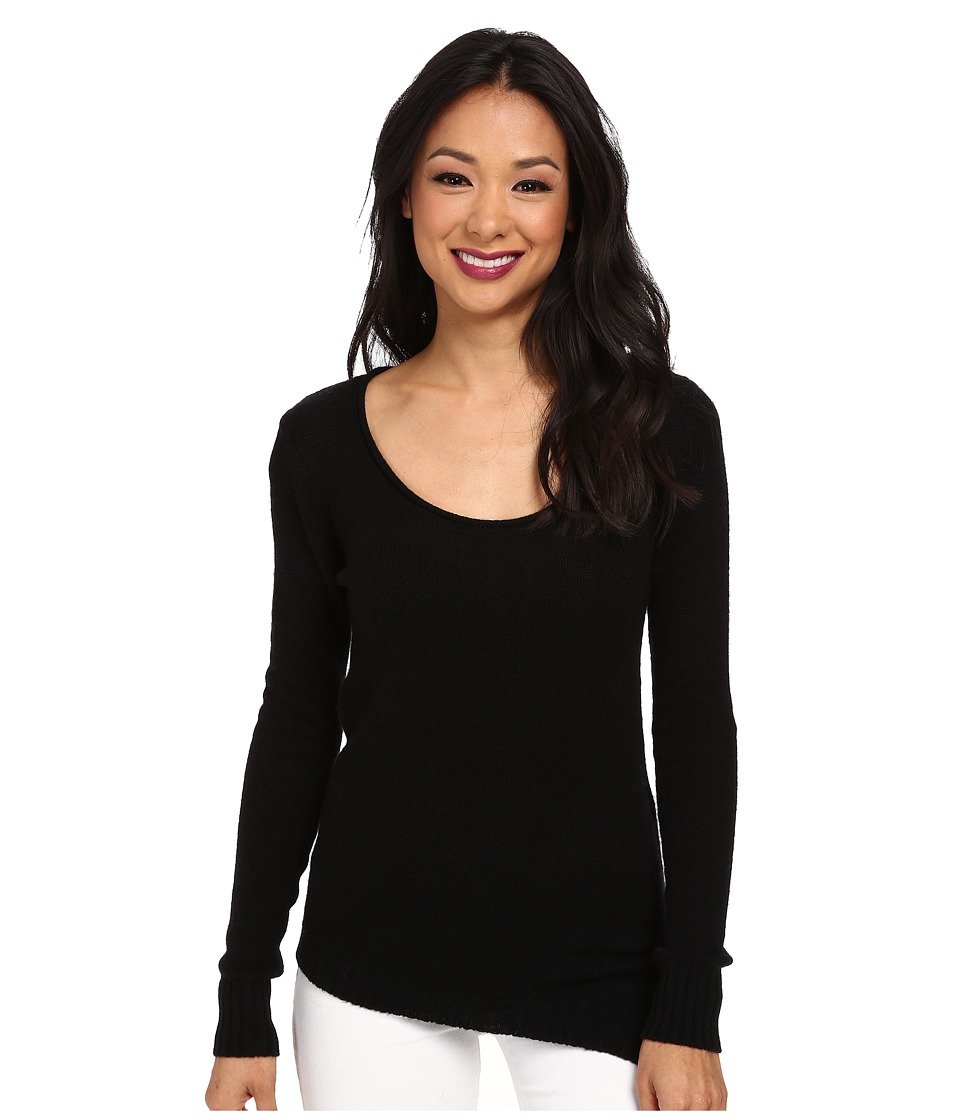 Image of Autumn Cashmere - Asymmetric Scoop Neck (Black) Women's Sweater
