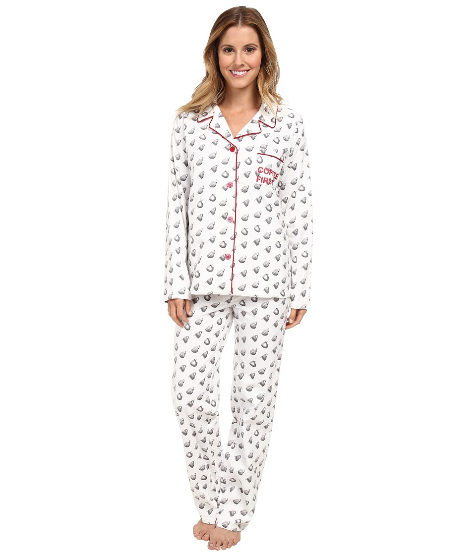 BCBGeneration - Coffee First (White) Women's Pajama Sets