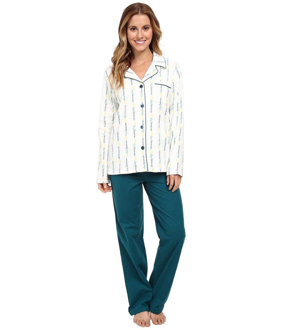 BCBGeneration - I'll Sleep Tomorrow PJ Set (Sleep Tomorrow Green) Women's Pajama Sets