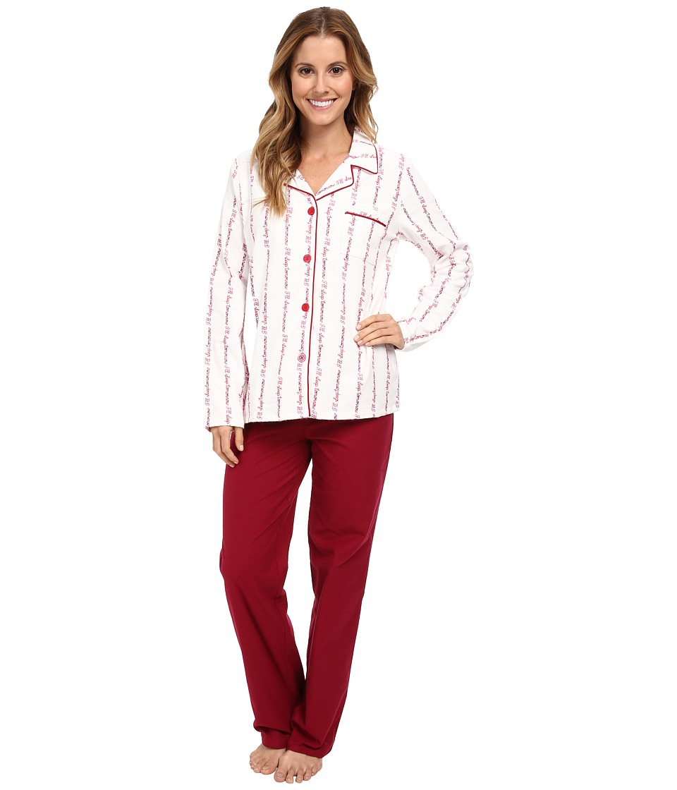 BCBGeneration - I'll Sleep Tomorrow PJ Set (Sleep Tomorrow Red) Women's Pajama Sets