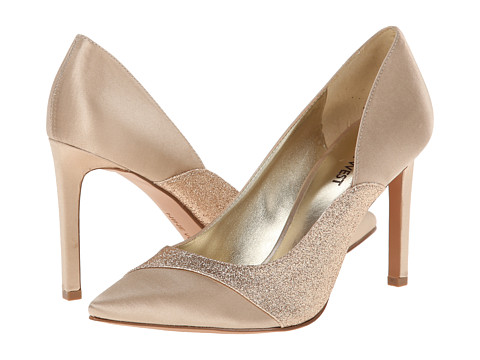Nine West - Caviar (Light Gold/Gold Satin) High Heels