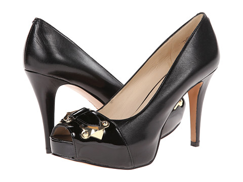 Nine West - Chocolate (Black Leather) High Heels
