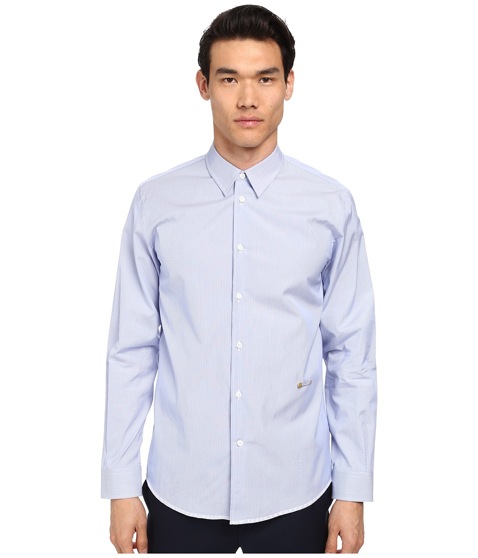 Marc Jacobs - Slim Fit Sunrise Stripe L/S Button Up (Blue Combo) Men's Long Sleeve Button Up