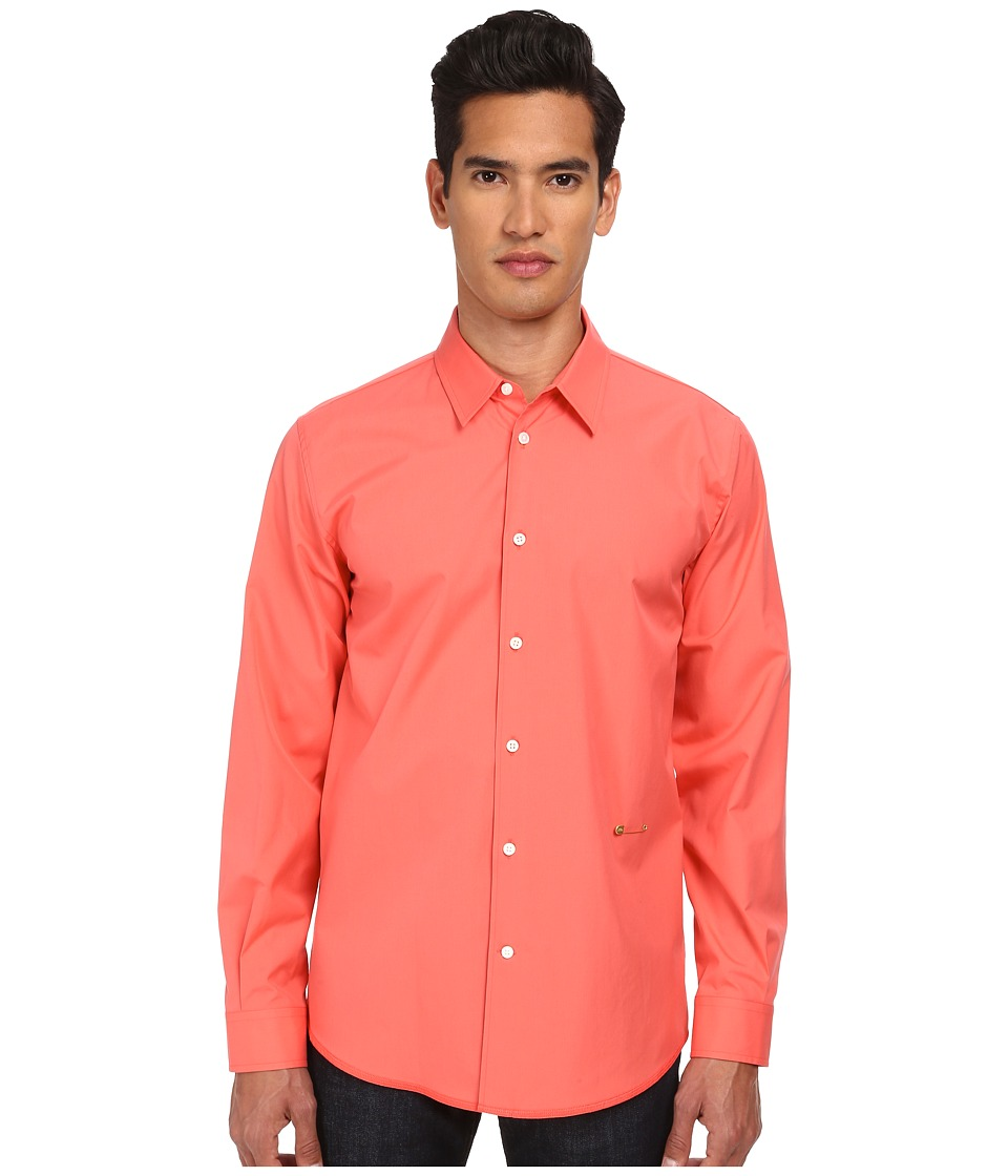 Marc Jacobs - Slim Fit Comfort Poplin L/S Button Up (Flamingo) Men's Long Sleeve Button Up