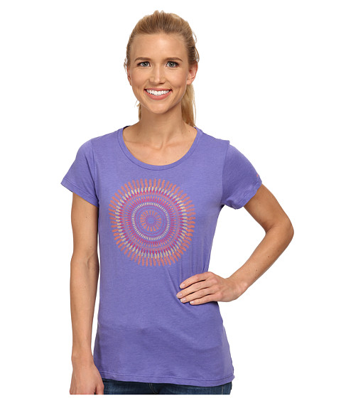 Columbia - Out and About Graphic Crew Neck Tee (Purple Lotus) Women's Short Sleeve Pullover