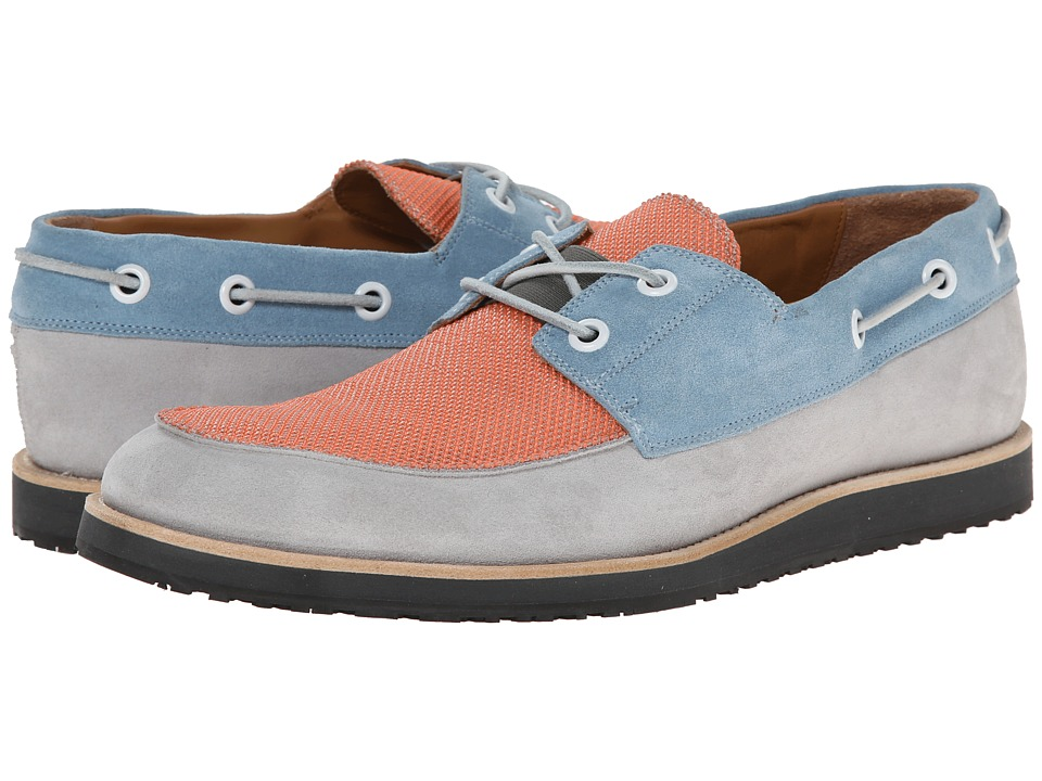 Marc Jacobs - Multi Color Boat Shoe (Sky/Grey/Red) Men