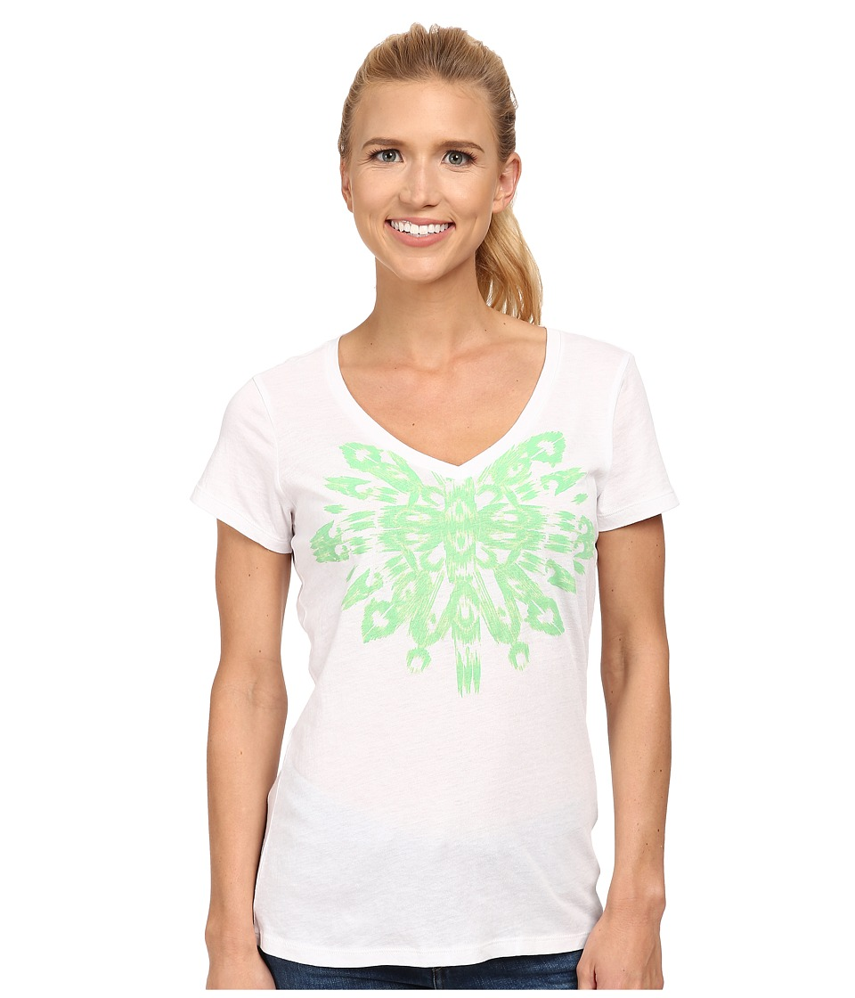 Columbia - Out and About Graphic V-Neck Tee (White) Women