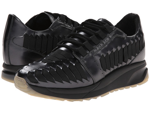 Marc Jacobs - Laser Cut Runner (Ebony) Men's Lace up casual Shoes