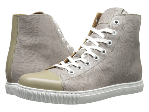 Marc Jacobs - Two-Tone Parker High Top (Grey) Men's Shoes