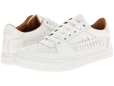 Marc Jacobs - Stamped Low Top Sneaker (White) Men's Shoes