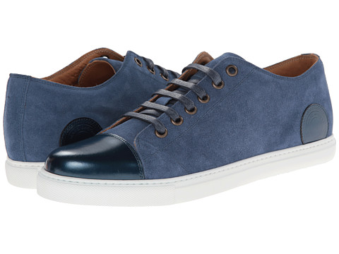 Marc Jacobs - Two-Tone Parker Low Top (Marine) Men's Shoes