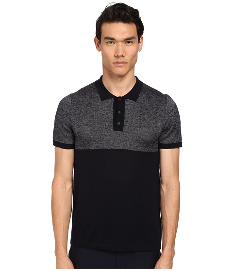 Marc Jacobs - Merino Lurex Polo Sweater (Midnight) Men