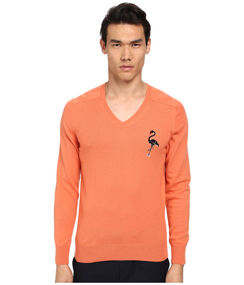 Marc Jacobs - Cashmere Silk Flamingo Embroidered Sweater (Flamingo) Men's Sweater