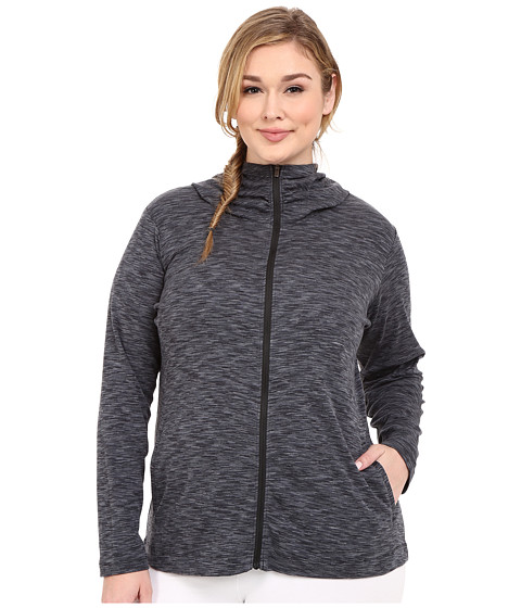 Columbia - Plus Size OuterSpaced Full Zip Hoodie (Black) Women's Sweatshirt