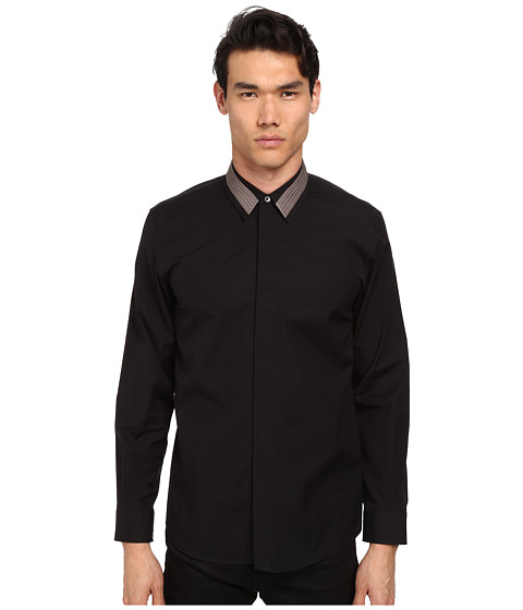 Marc Jacobs - Slim Fit Comfort Poplin Button Up (Black) Men