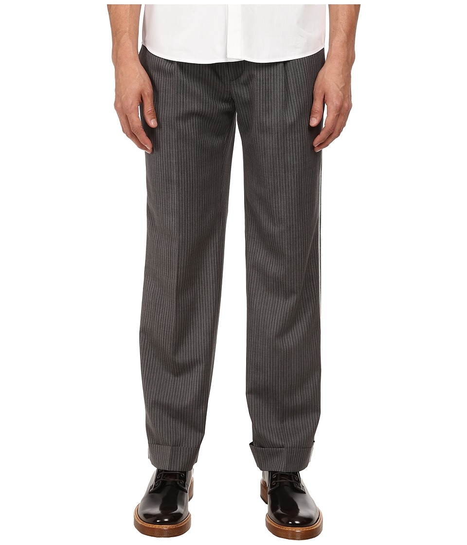 Marc Jacobs - Strictly Striped Cuffed Pant (Asphalt Combo) Men's Casual Pants