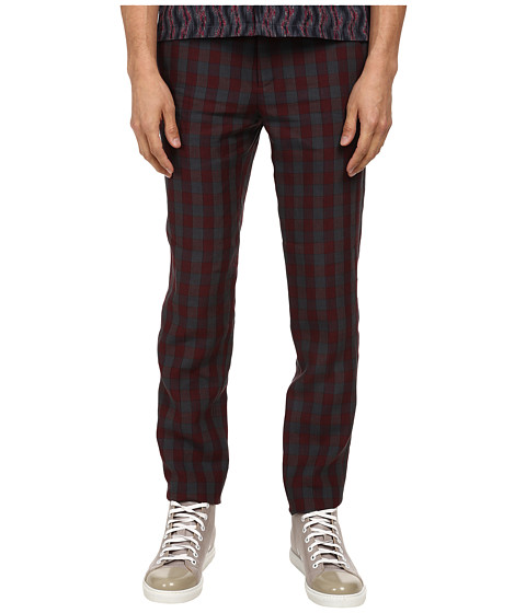 Marc Jacobs - Tom Check Linen Pant (Midnight Check) Men's Casual Pants