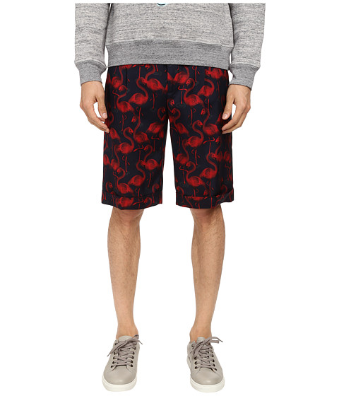 Marc Jacobs - Flamingo Summer Silk Twill Shorts (Cassis) Men's Shorts