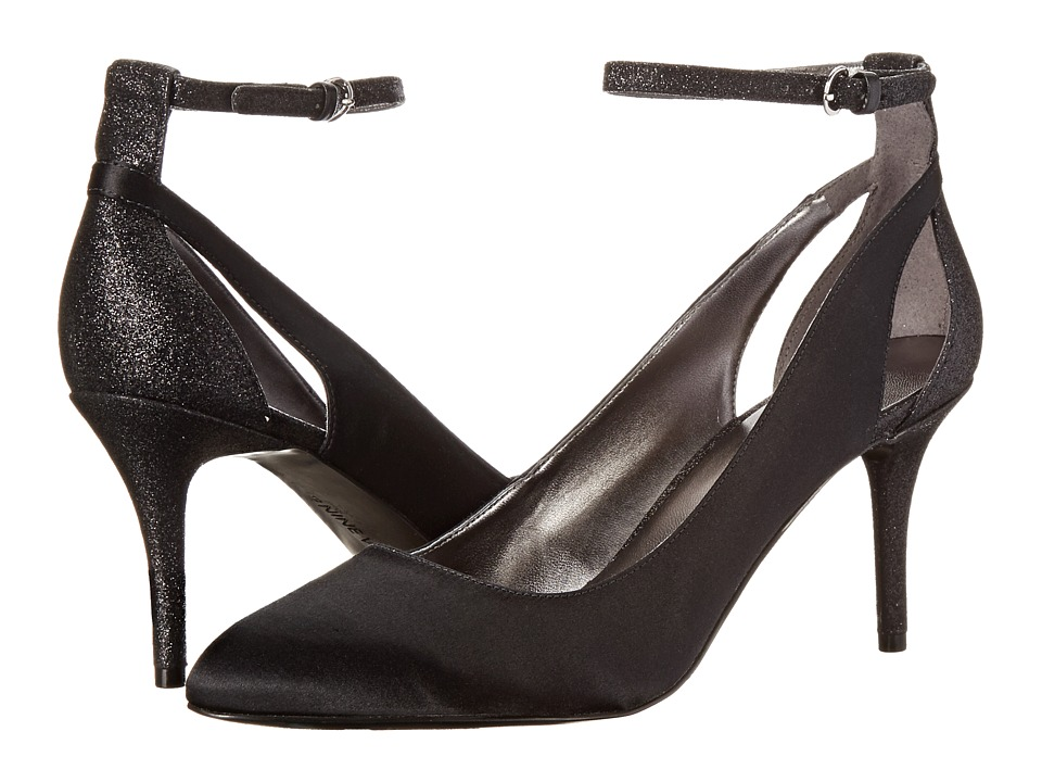 Nine West - Educate (Black/Black Satin) High Heels