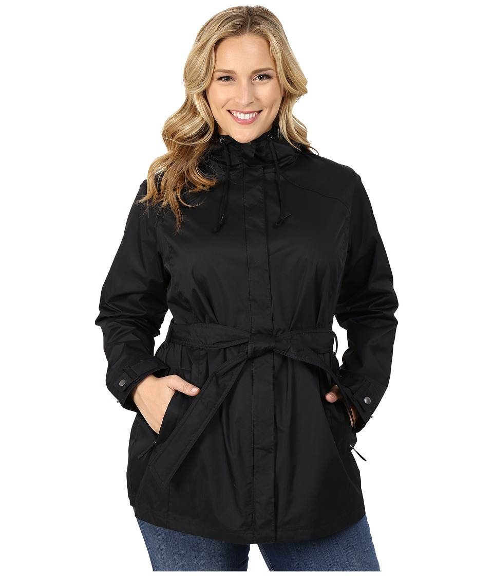 Columbia - Plus Size Pardon My Trench Rain Jacket (Black) Women's Coat