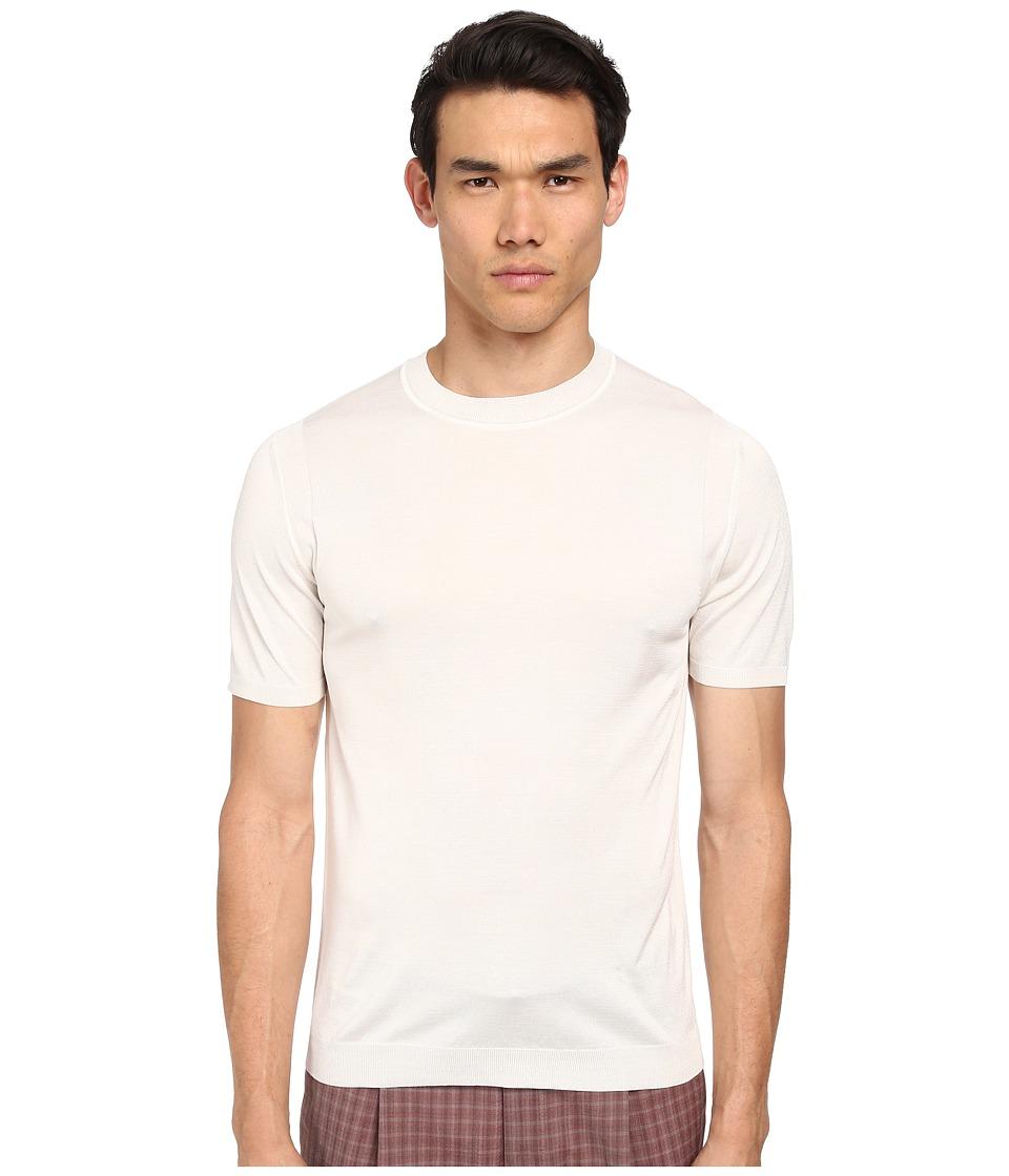 Marc Jacobs - Silk Jersey S/S Sweater (Ivory) Men