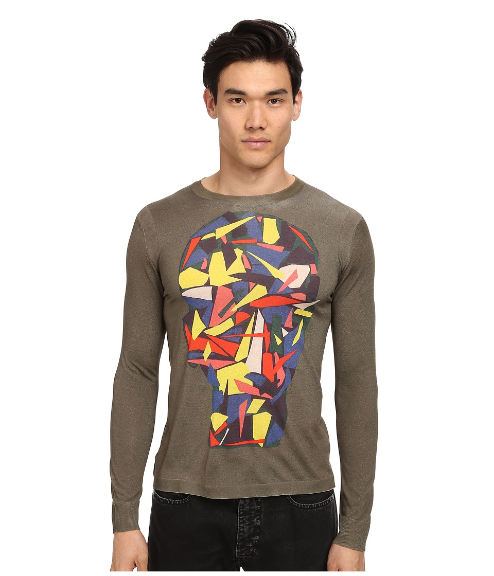 Marc Jacobs - Scrap Losion L/S Sweater (Pale Palm) Men's Sweater