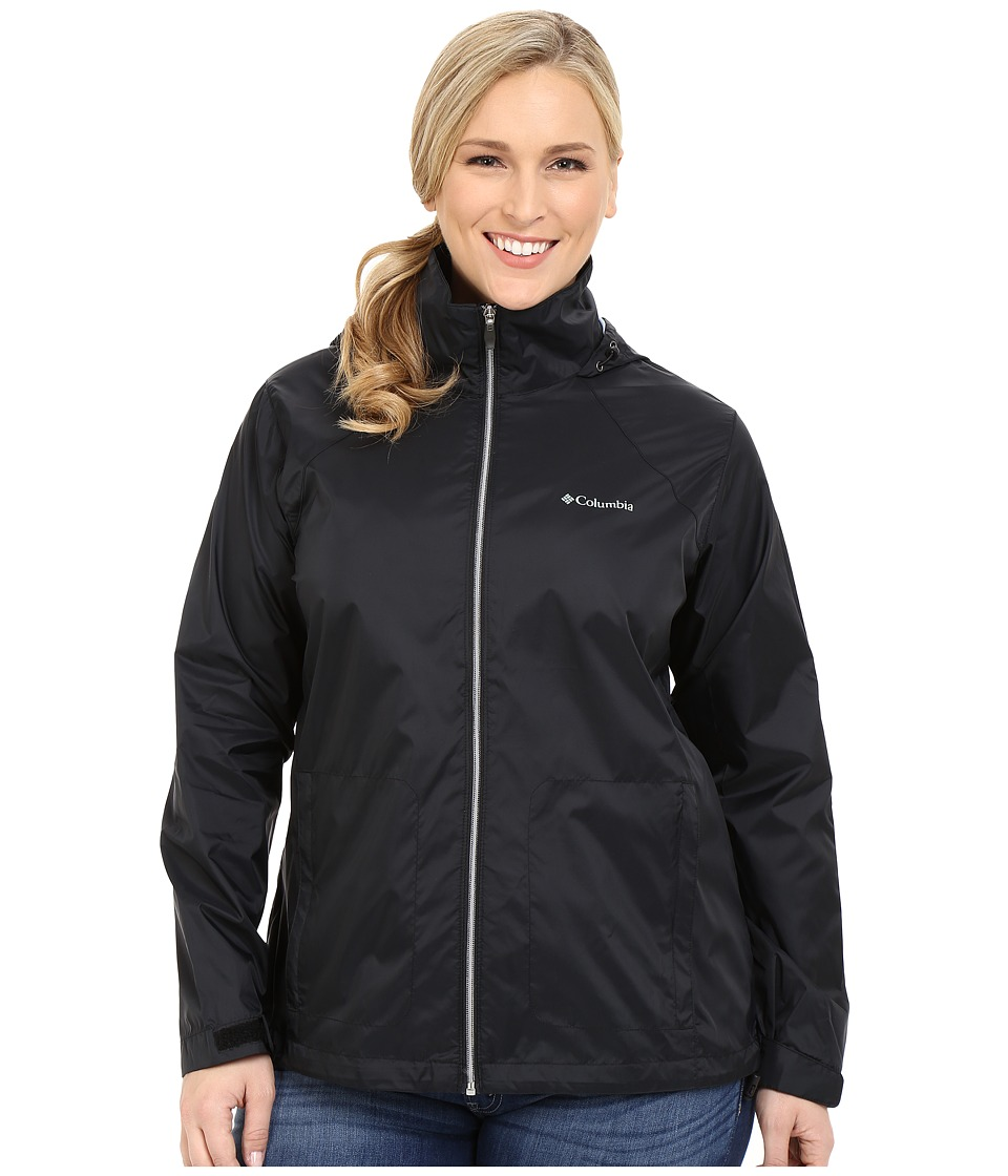 Columbia - Plus Size Switchback II Jacket (Black) Women's Coat
