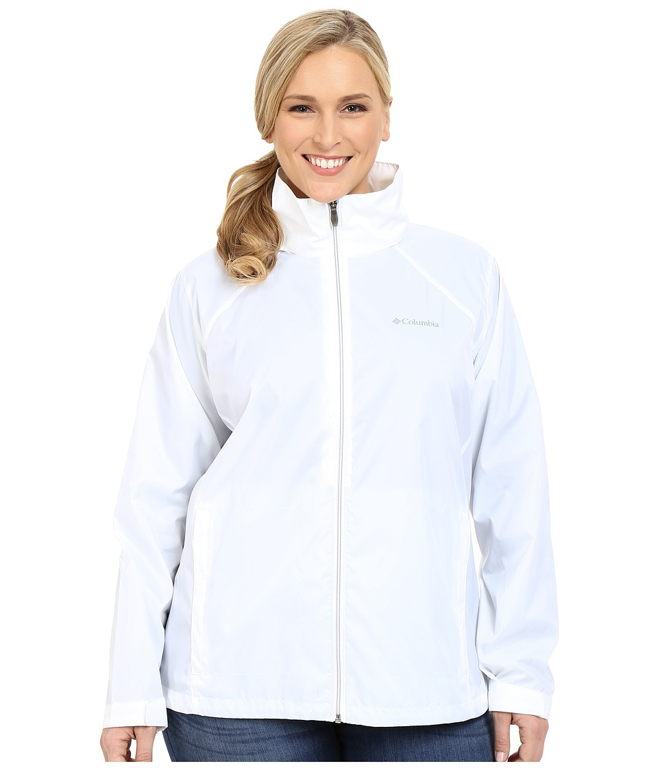 Columbia - Plus Size Switchback II Jacket (White) Women's Coat