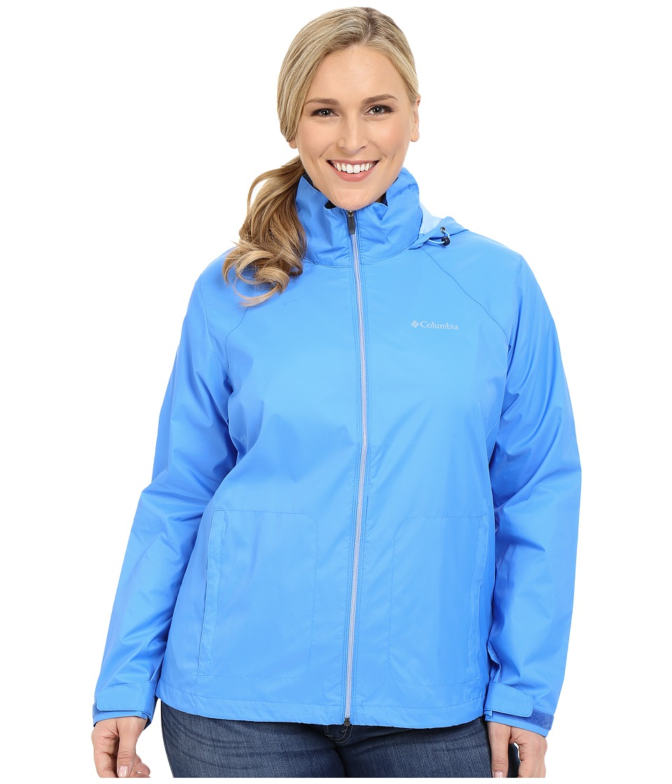 Columbia - Plus Size Switchback II Jacket (Harbor Blue) Women's Coat