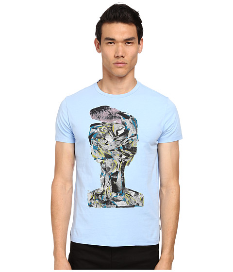 Marc Jacobs - Slim Fit Summer Jersey Tee (Blue Sky) Men's Short Sleeve Pullover