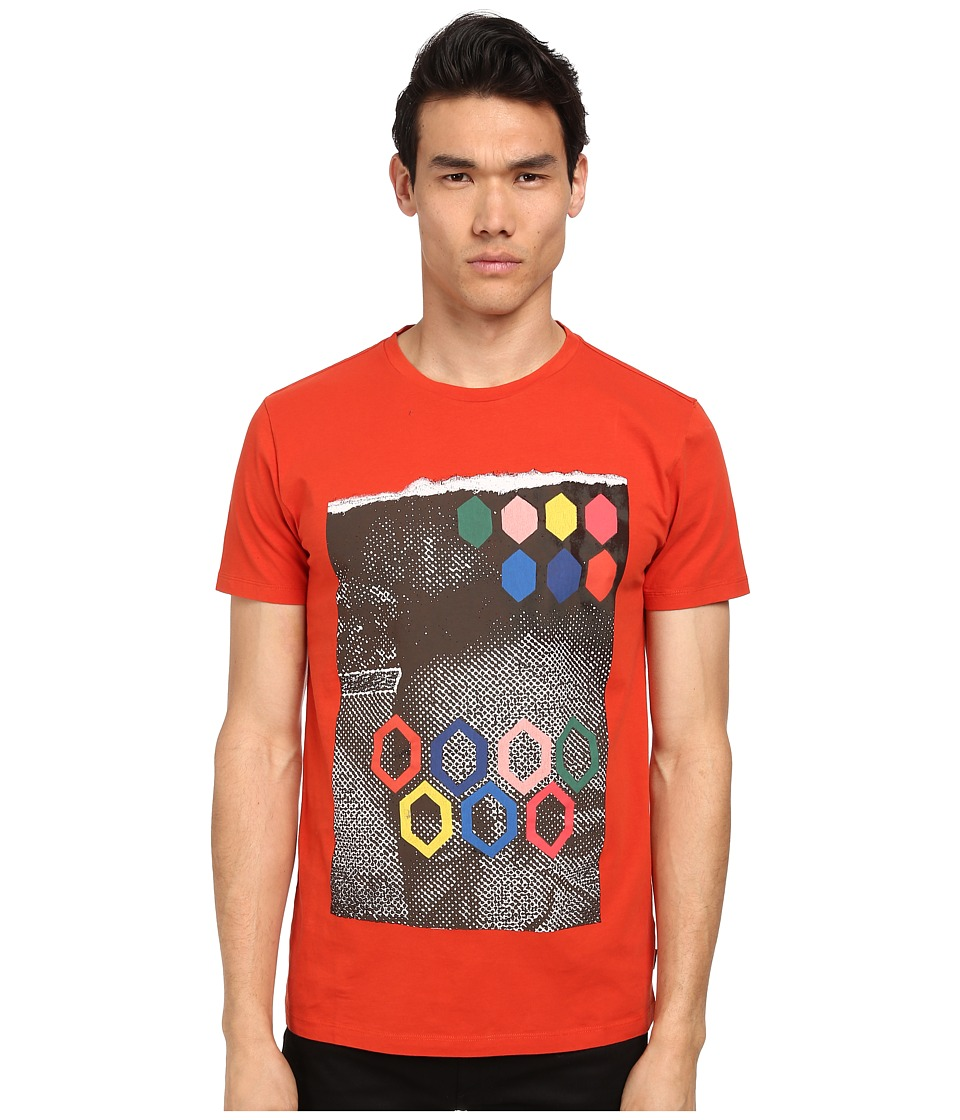 Marc Jacobs - Regular Fit Graphic Print Summer Jersey Tee (Berry Red) Men