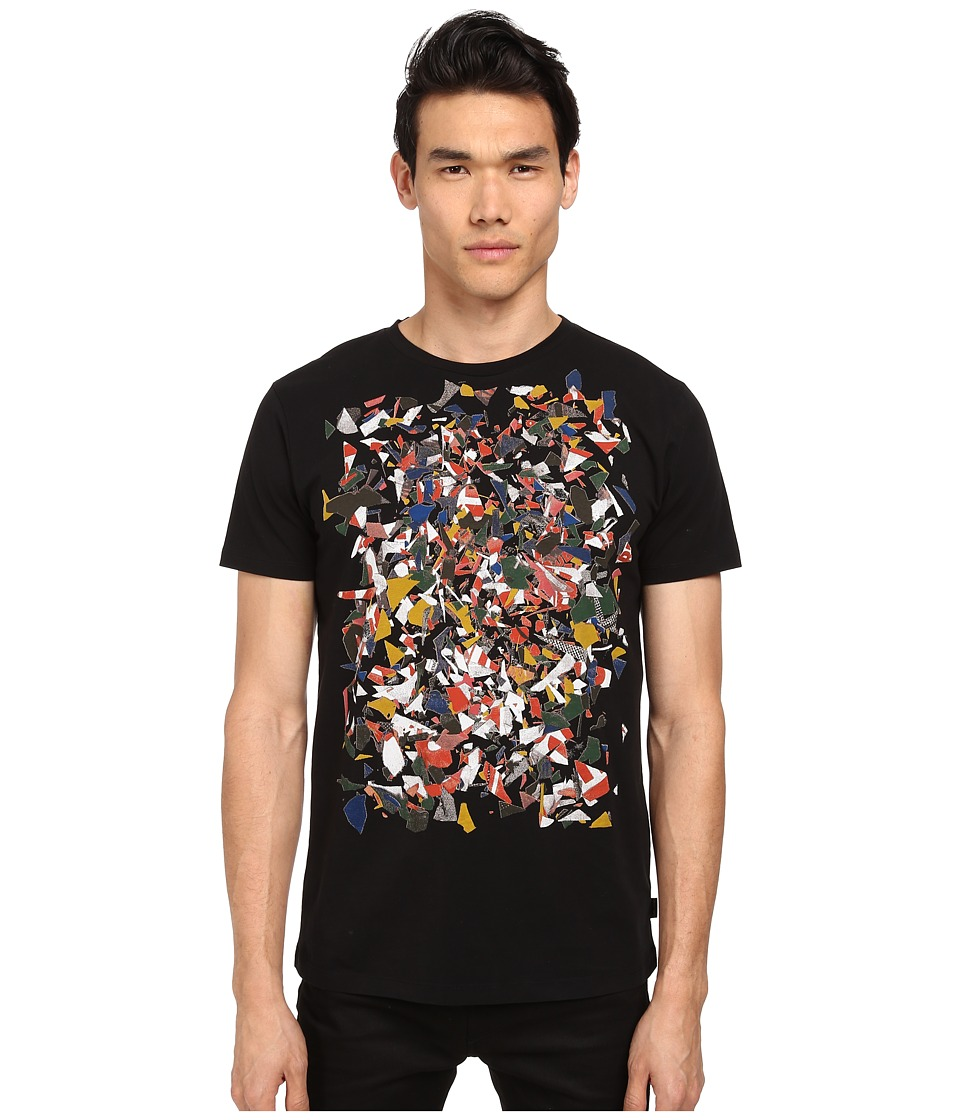 Marc Jacobs - Regular Fit Graphic Print Summer Jersey Tee (Black) Men's T Shirt