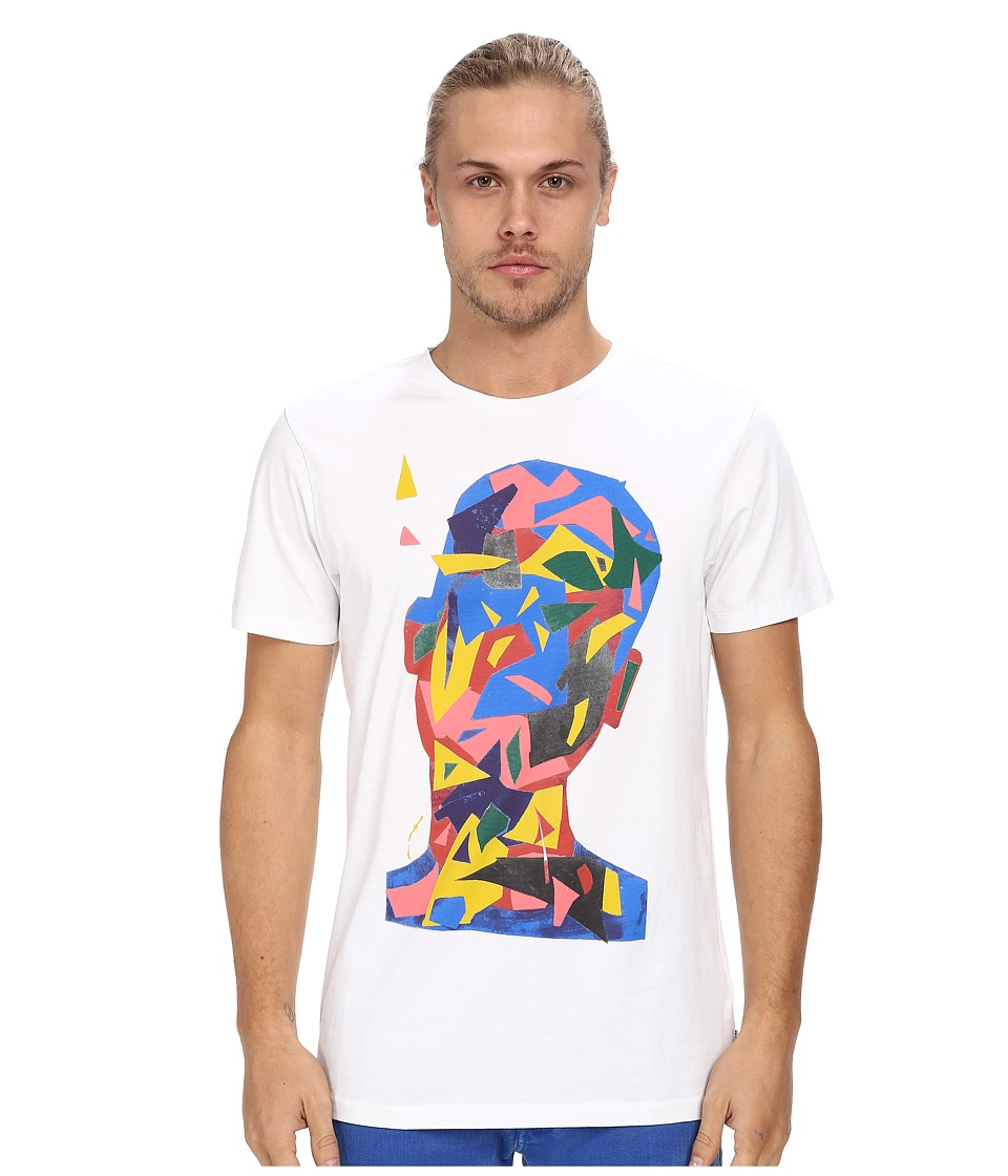 Marc Jacobs - Regular Fit Graphic Print Summer Jersey Tee (White) Men's T Shirt