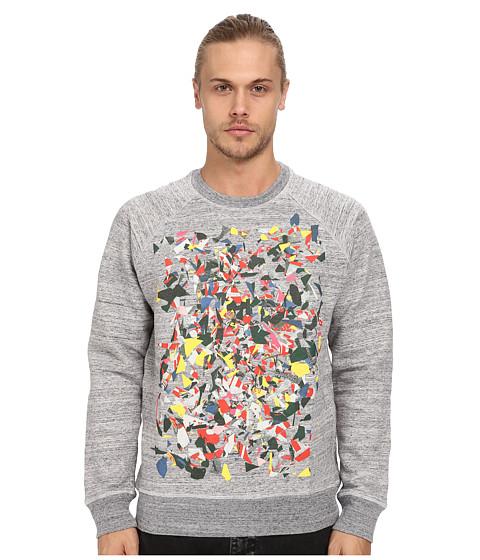 Marc Jacobs - Allover Print Swirly Sweatshirt (Grey Melange) Men's Sweatshirt