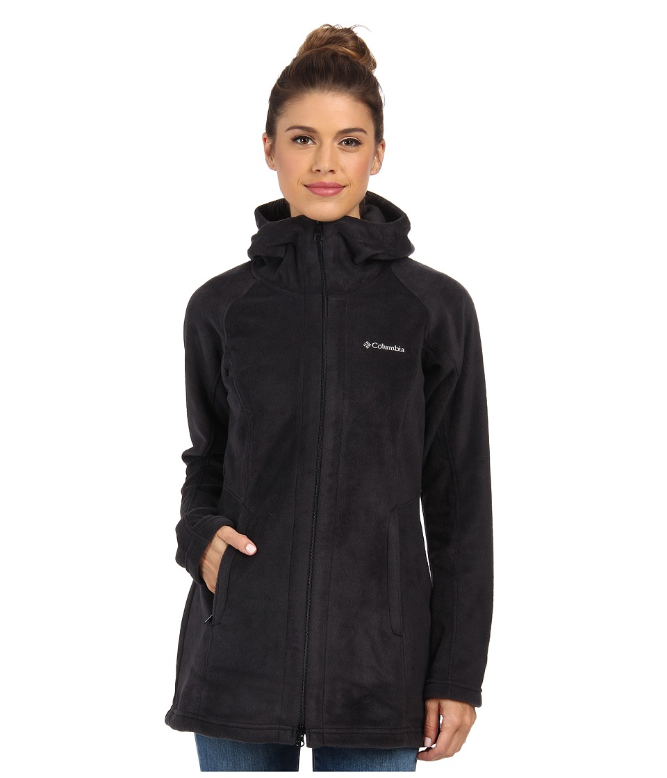 Columbia - Benton Springs II Long Hoodie (Black) Women's Coat